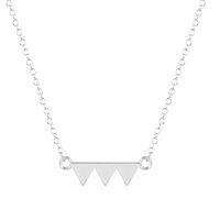 amazing brass - 1pcs New Amazing Simple Triangle Geometric Chevron Tirade Initial Necklace Wedding Gift for Women and Girls