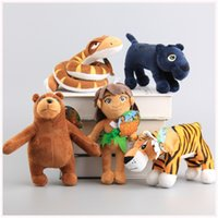 bears book - 5 Style cm Movie The Jungle Book Plush Toys Mowgli Tiger Shere Khan Snake Kaa Bear Animals Figure Stuffed Dolls