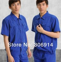 Wholesale quality summer short sleeves ventilated factory workshop working suit auto garage mechanic working clothes