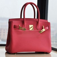 Wholesale Brand genuine leather bag Fashion women bag Classic casual tote Togo shoulder bags cm women bag famous brands H handbag