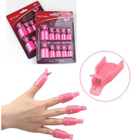 Wholesale Remover Wrap New pc Plastic Nail Art Soak Off Cap Clip Uv Gel Polish Remover Wrap Tool