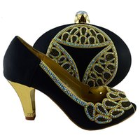 african news - Good News African Fashion italian Shoes and Matching Bags set with plenty stone for party Italy Shoes and Bags Size