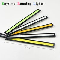 Cheap Wholesale-1X Full New Ultra Bright COB 17cm LED Auto Car Bar Daytime Running light Bulb Waterproof Aluminum DRL Driving Fog LED Strip lamp