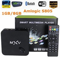 Wholesale MXV Quad Core Android TV BOX S805 GB GB Cortex GHZ Android KODI Cloud Tv WIFI Bluetooth H HEVC Media Player