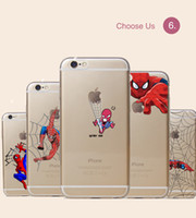 accessory cellular phone - Spide man Transparent Cell Phone Cases for Iphone4 S Splus Soft TPU Hard PC Cellular Phone Best Mobile Phone Accessories