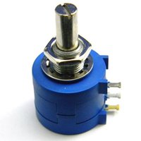 Wholesale 1x S L K Ohm Rotary Wirewound Precision Potentiometer Pot Turn B00210 BAR
