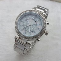 Wholesale Luxury Famous designer women rhinestone watches fashion luxury Dress Michael ladies watch Imitation Conch Dial Ma am Watches