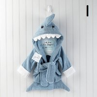 Wholesale Super soft cotton baby bathrobe children cute hooded baby bath robe kids hood bathrobes cotton