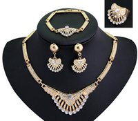 big earrings trend - Necklace Earrings SetEuropean and American popular trend of foreign trade atmosphere high grade diamond earrings necklace set big accessorie
