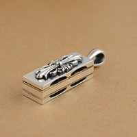 antique harmonicas - Thai silver S925 sterling silver pendant antique style pendant can blew the harmonica