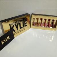 Wholesale 2016 Hot Kylie Jenner Cosmetics Matte Lipstick Lip Goss Mini Leo Kit Lip Birthday Limited Edition Gold