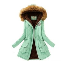 Wholesale 2016 Womens Winter Down Jackets and Coats Women Thicken Warm Winter Fur Collar Plus Size Parkas for Women Long Down Parka