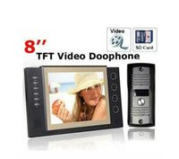 Wholesale 8 quot inch TFT Wired Video Door Phone with SD Card Record Monitor Camera Auto night