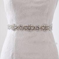 belt elastic women - 2016 Handmade luxury belt wedding sash bridal belt Rhinestones wedding sash pearl beaded Bride belt cinturon novia madrinha