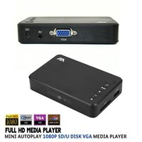 Wholesale Full HD Media Player Mini Autoplay p SD U Disk HDD Media Player With AV VGA SD Output Support MKV H RMVB WMV