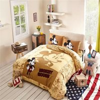 Wholesale Hot Seller Mickey Mouse Bedding Set Comforter Sets On Sale Bedding And Comforters Twin Queen