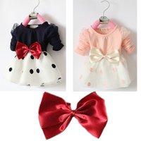 baby heights - kids clothes chiffon baby clothes spring autumn girls dress long sleeve kids clothing bowknot girls clothes fit height cm