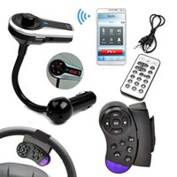 Wholesale Audio Car MP3 Player Steering Wheel Control Bluetooth Hands free Car Kit MP3 Player Wireless Car Music Player FM Transmitter Modulator