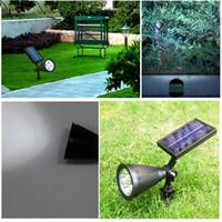 Wholesale Solar Floodlighting - Outdoor Solar Lighting Lamps Flood Lights Waterproof Solar LED Landscape Lights Outdoor Spotlight High Brightness Projection Floodlights