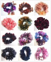 Wholesale Mix Style yonshy brand crystal lace nail bead Hair Rubber Bands hair rope Hair tie Pony Tails Holder hair accessory