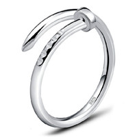 Wholesale Hot Band rings Female screw ring Nail ring sterling silver jewelry