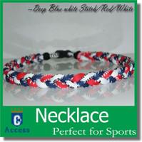 baseball athlete - 3 Ropes Tornado Necklaces Germanium Titanium athletes X45 X50 baseball Necklaces Christmas gift