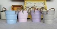 bar coats - Flower shop around the corner Wrought IronTin Bucket Flower Pot Barrel Retro cylinder Vase Bar shop Home Garden Decor