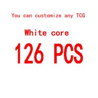 Wholesale 126 TCG DIY white core Board game Custom X63MM