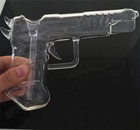 gun water pipe - Glass Bongs Gun Shape Water Pipe Glass Pistol Water Pipe Dab Smoking Accessory Glass Hookah Smoking Pipe Glass Bongs Oil Rigs