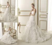 ad bridal - Elegant Mermaid Strapless Off the shoulder Wedding Dresses Long Layered Bridal Gown Custom Made ad