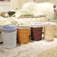 antique laundry basket - Seaweed by hand woven receive clothes receives the cane makes up the laundry basket basket toys