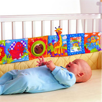 Wholesale Baby Toys Baby Cloth Book Knowledge Around Multi touch Multifunction Fun And Double Color Colorful Bed Bumper
