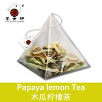 Wholesale 3g Papaya Lemon Tea Flower Organic Food Health Care Beauty Weight Loss Whitening smooth skin