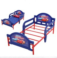 Wholesale Plastic Metal Children kids Girl Boy Baby Bed with Cartoon Big size for to Years old Baby