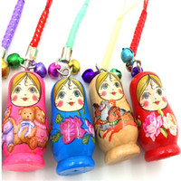 Wholesale 2016 hot sale mini Russian doll with wooden handicraft Pendant Tourism souvenir gift toy doll accessories