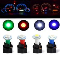 Wholesale 10 Sets Car Auto DC V W T5 LED SMD Instrument Panel Dash Light Bulb Holder White Color