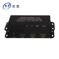 Wholesale 4K HDMI Splitter x2 with HDMI1 v supports D Kx2k p hz port HDMI Distribution Amplifier