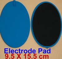 big pads shipping - 110PCS Oval Large Big Replacement Electrode Pads For Tens machine Tens Slimming massager Reusable via dhl No odor