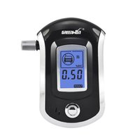 Wholesale GREENWON AT6000 Professional Breathalyzer with Semi conductor Sensor and LCD Display Digital Breath Alcohol Tester with Mouthpieces Fit