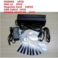 Wholesale MSR605 Magnetic Strip Card Reader Writer Track Hi Co with cd sdk and test card as gift