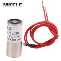 Wholesale 24V Electromagnet Electric Lifting Magnet Solenoid Lift Holding kg DC V Imanes De Materials with hole MKP13