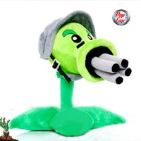 Wholesale Star Product inch cm Lovely Plant Vs Zombies PopCap Gatling Peashooter Plush Toys pack