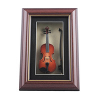 Wholesale New Fashion Hand mad Mini Wood Violin Model Frame Violin Model Display Frame Wall Frame
