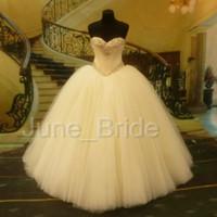 beaded garden designer - Luxury Crystal Beaded Ball Gown Wedding Dress Factory Custom Made Strapless Sweetheart Floor Legnth Designer Bridal Dresses Vestido De Novia