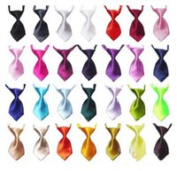 active pet - NEW Fashion solid color and candy color Polyester Silk Pet Dog Necktie Adjustable Handsome Bow Tie Necktie Grooming Supplies
