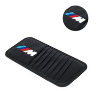 Wholesale Fashion Car Sun Visor Card Case CD DVD Storage Bag Holder Clipper For BMW style Black Auto DVD Storage Case
