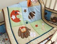 Boys' baseball bedding sets - British Baby cot Bedding Sets Boys Sports Baseball stars Inc baby quilt bedcover diaper stacker etc