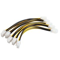 Cheap Power Cable atx 4 pin Best as pic Black and yellow cable adapter