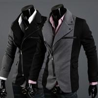 Wholesale New hot sale Men s Jacket Slim Sexy Zipper design of mixed colors roma Jacket Coat Slim small suit