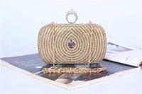 TOP Nouvelle Arrivée Sacs à main de diamant de paon de femmes anneau de doigt en cristal perlé sacs de soirée sac à bandoulière Mariage de mariée sacs de maquillage d'embrayage jour